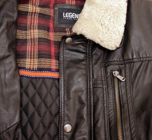 Miesten Käsilaukku : Miesten nahkatakki karvakauluksella legend golf